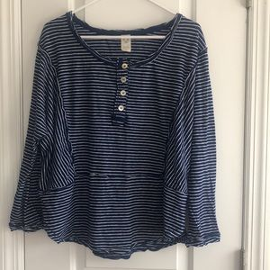 Free People WE THE FREE oversized stripe top